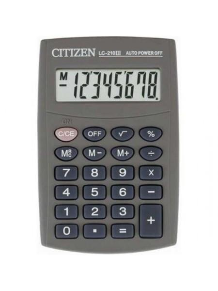 CITIZEN Калькулятор карманный  8-разрядный LC-210III