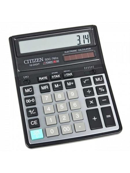 CITIZEN Калькулятор настольный 16-разрядный SDC-760N