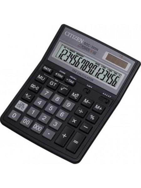 CITIZEN Калькулятор настольный 16-разрядный SDC-395N