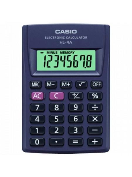 Casio Калькулятор карманный  8-разрядный  HL-4A-S-EP
