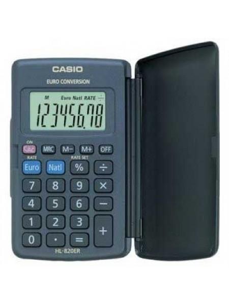 Casio Калькулятор карманный  8-разрядный  HL-820VER
