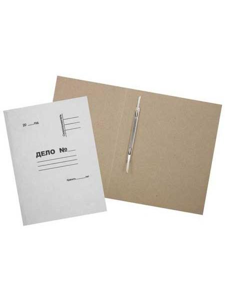 Папка картонная «Дело» со скоросшивателем, А4, плотность 420 г/м2, немелованная, белая
