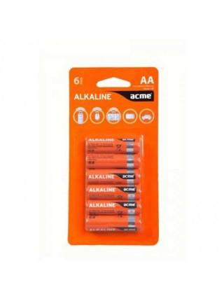 Acme Батарея гальваническая щелочная (alkaline) AA, LR6, 6шт