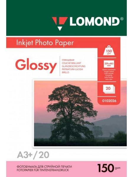 LOMOND Фотобумага глянцевая А3+ (329 х 483) 150 г/м 20л. односторонняя