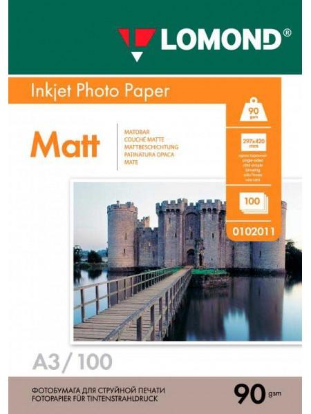 LOMOND Фотобумага матовая А3 (297 x 420)  90 г/м 100л. односторонняя