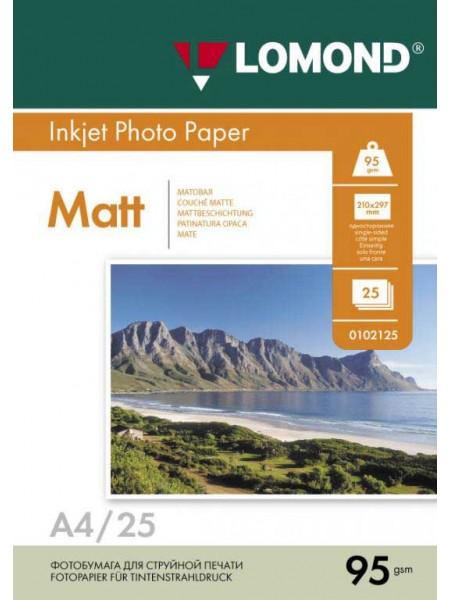 LOMOND Фотобумага матовая А4 (210 х 297)  95 г/м  25л. односторонняя