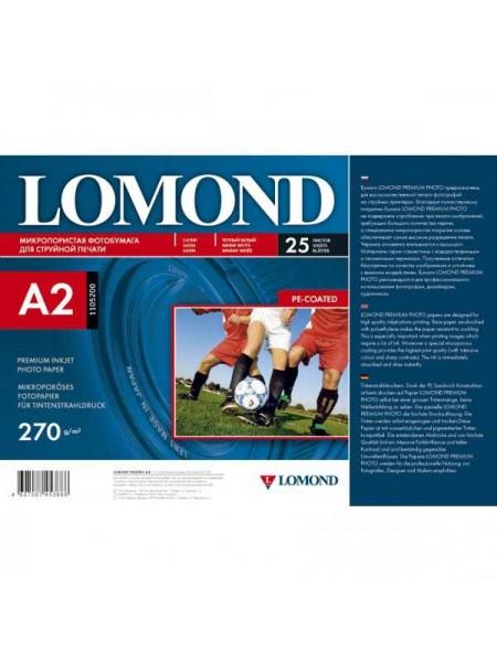 LOMOND Фотобумага атласная тепло-белая (Сатин) А2 (420 x 594) 270 г/м  25л. односторонняя