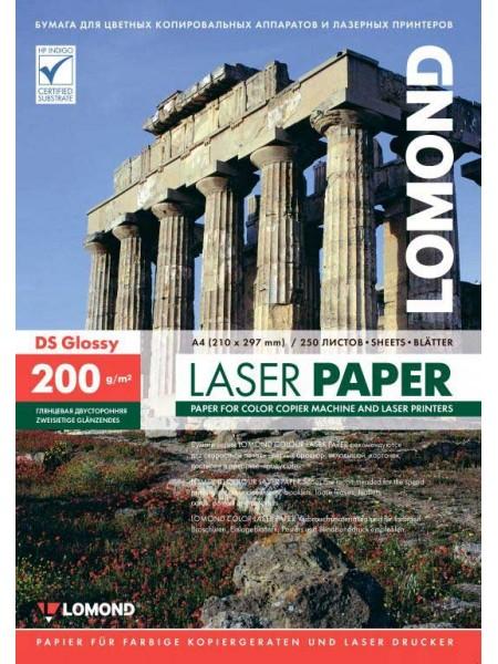 LOMOND Фотобумага глянцевая для лазерной печати А4 (210 х 297) 200 г/м 250л. двусторонняя