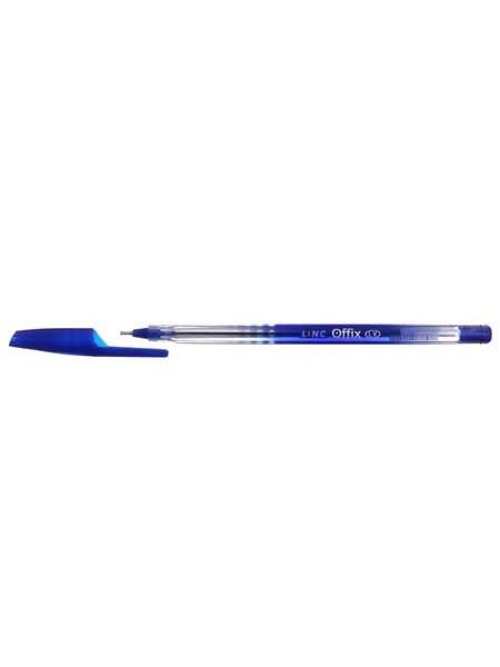 Linc Ручка шариковая одноразовая Offix, корпус ассорти, стержень синий