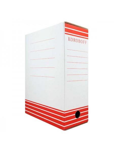 KOROBOFF Короб архивный из белого гофрокартона ширина 120 мм