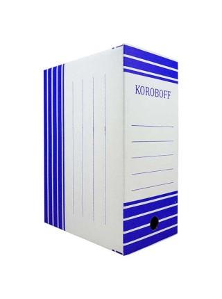 KOROBOFF Короб архивный из белого гофрокартона ширина 150 мм
