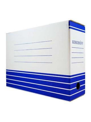 KOROBOFF Короб архивный из белого гофрокартона ширина 100 мм