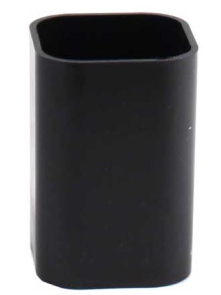 ЮНИ Карандашница непрозрачная, 100 х 70 мм, черная