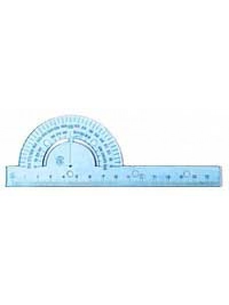 ЮНИ Транспортир 180°, 15 см