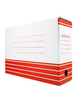 KOROBOFF Короб архивный из белого гофрокартона ширина  80 мм
