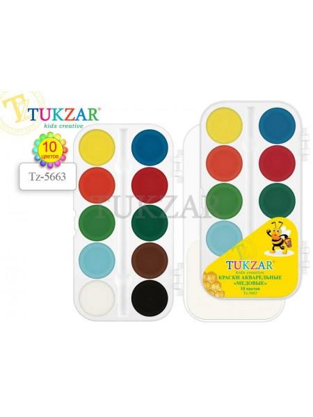 TUKZAR Краски акварельные медовые 10 цветов