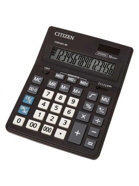 CITIZEN Калькулятор настольный 16-разрядный CDB-1601 BK