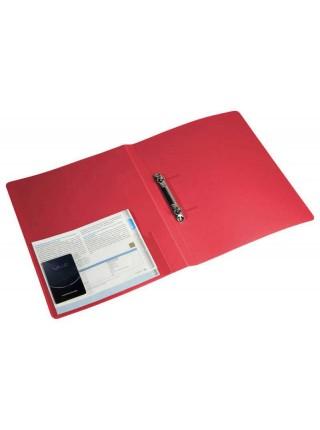 БЮРОКРАТ Папка на 2-х кольцах, 27 мм, A4 пластик 0.7мм, внутренний и торцевой карманы