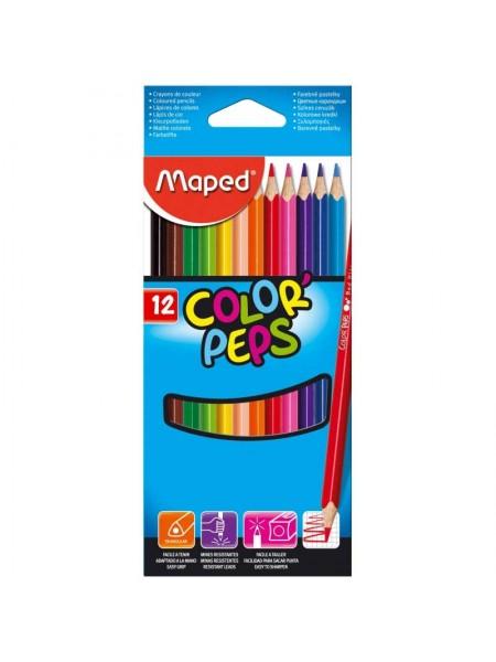 "MAPED Цветные карандаши ""Color Peps"" 12 шт + точилка"