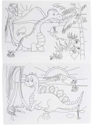 Каляка-Маляка Раскраска, А4, 4 л., «Динозаврики»