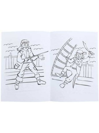 Каляка-Маляка Раскраска, А4, 4 л., «Пираты», 5+