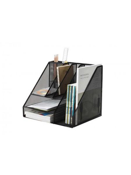 Q-CONNECT Подставка для канцелярских мелочей, большая, металлическая сетка