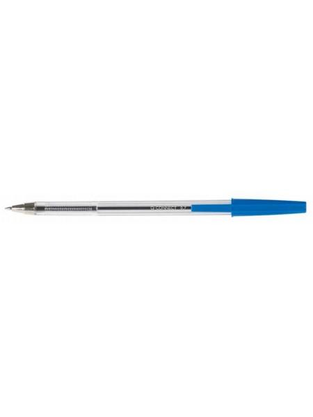 Q-CONNECT Ручка шариковая синяя, прозрачный корпус