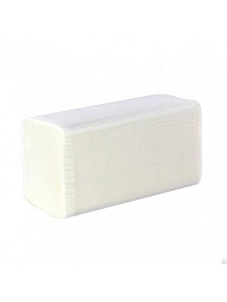 Хатник Полотенца бумажные листовые Vсложенные 200л. белые, 100% целлюлоза
