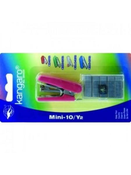 KANGARO Скобосшиватель №10 HS-Mini 10 (до10 листов) + скобы №10, блистер