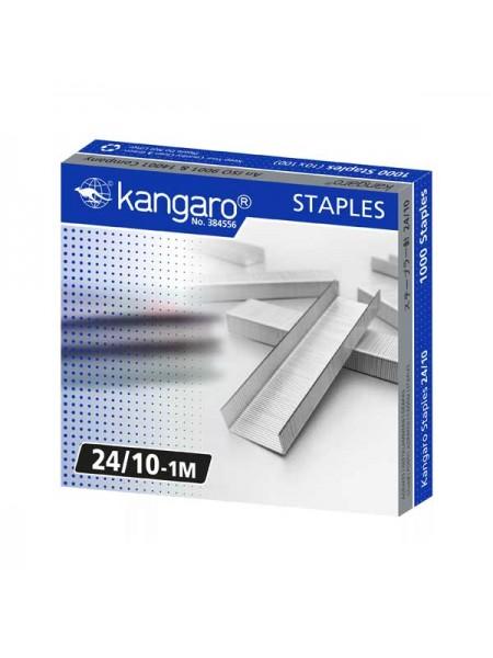KANGARO Скобы для степлера №24/10, 1000шт/уп.