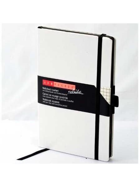 """BRUNNEN Записная книжка """"Компаньон"""", A6, 192 стр., клетка, белый, резинка"""
