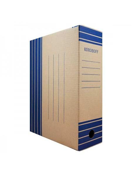 KOROBOFF Короб архивный из бурого гофрокартона ширина  80 мм