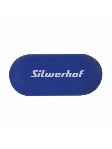 SILWERHOF Ластик 56x25x10мм, каучук синтетический, желтый/синий
