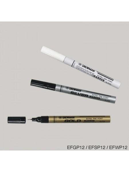 SNOWMAN Маркер лаковый серебро EFSP-12 (0.5 мм)