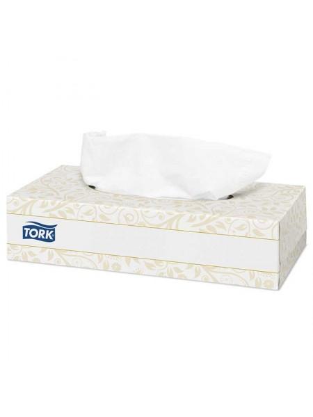 TORK Салфетки Premium для лица ультрамягкие белые, 100 шт.